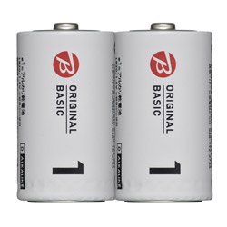 LR20BKOS-2P 単1電池 [2本 /アルカリ] BIC ORIGINAL BASIC