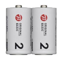 LR14BKOS-2P 単2電池 [2本 /アルカリ] BIC ORIGINAL BASIC
