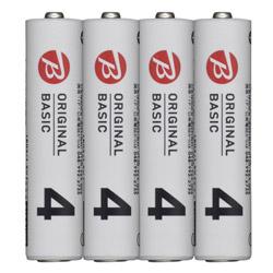 LR03BKOS-4P 単4電池 [4本 /アルカリ] BIC ORIGINAL BASIC