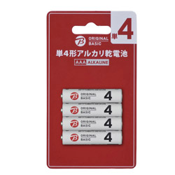 ORIGINAL BASIC LR03BKOB-4P 単4電池 [4本 /アルカリ] BIC ORIGINAL BASIC
