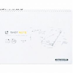 スマートフォン用 ショットノート 横型 ツインリングタイプ 5mmドット方眼タイプ (A4サイズ 228×297mm・50枚・ホワイト) 9154DH W