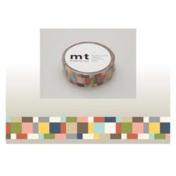 mt マスキングテープ(モザイク・グレイッシュ) MT01D177
