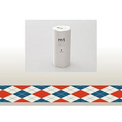 mt マスキングテープ・8コセット(アーガイル・レッド) MT08D162