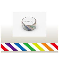 mt for kids マスキングテープ(カラフル・ストライプ) MT01KID001