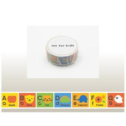 mt for kids マスキングテープ(キッズアルファベットA-M) MT01KID013