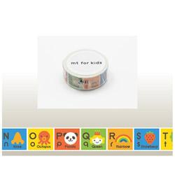 mt for kids マスキングテープ(キッズアルファベットN-Z) MT01KID014