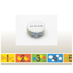 mt for kids マスキングテープ(キッズすうじ) MT01KID015