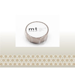 mt マスキングテープ(麻の葉・真鍮) MT01D214