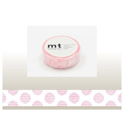mt マスキングテープ(mt1P手描きドット・ピンク) MT01D225