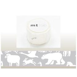 mt マスキングテープ mt fabフロッキー(白い動物) MTFL1P04
