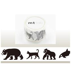 mt マスキングテープ mt fabスクリーン(黒い動物) MTSC1P04