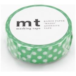 mt マスキングテープ 1P(ドット・グリーンベース) MT01D237[生産完了品 在庫限り]