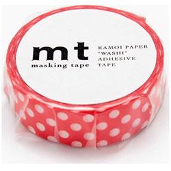 mt マスキングテープ 1P(ドット・レッドベース) MT01D238[生産完了品 在庫限り]