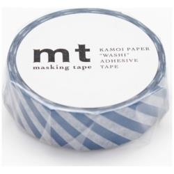 mt マスキングテープ 1P(ストライプ・マリンブルー) MT01D239[生産完了品 在庫限り]