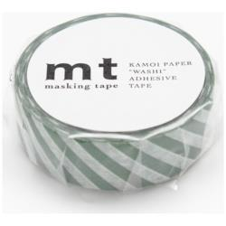 mt マスキングテープ 1P(ストライプ・コバルトグリーン) MT01D243[生産完了品 在庫限り]