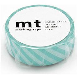 mt マスキングテープ 1P(ストライプ・ミント) MT01D244[生産完了品 在庫限り]