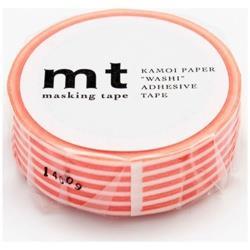 mt マスキングテープ 1P(ボーダー・ブライトオレンジ) MT01D252[生産完了品 在庫限り]