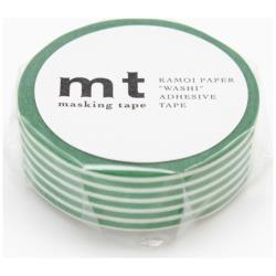 mt マスキングテープ 1P(ボーダー・エバーグリーン) MT01D257[生産完了品 在庫限り]