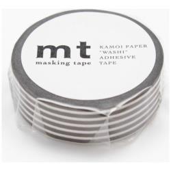 mt マスキングテープ 1P(ボーダー・ディープブラウン) MT01D261[生産完了品 在庫限り]