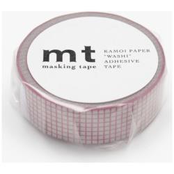 mt マスキングテープ 1P(方眼・ピンクonグレー) MT01D267[生産完了品 在庫限り]