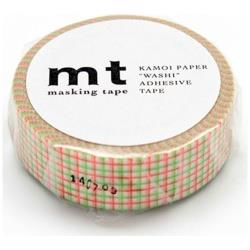 mt マスキングテープ 1P(方眼・グリーン×オレンジ) MT01D269[生産完了品 在庫限り]