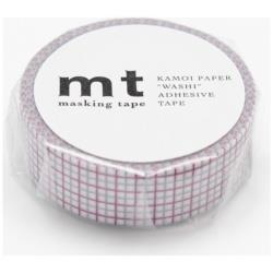 mt マスキングテープ 1P(方眼・パープル×グレー) MT01D271[生産完了品 在庫限り]