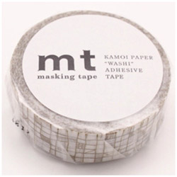 mt 1P マスキングテープ(ライン・ブラウン) MT01D292