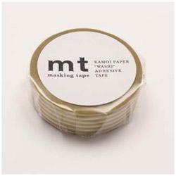 mtマスキングテープ 1P ボーダー・ゴールド MT01D322[生産完了品 在庫限り]