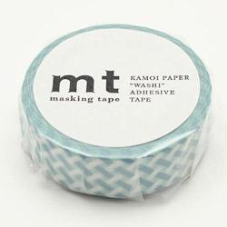mt 1P 編みチェック・ブルー MT01D334