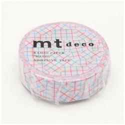 mt マスキングテープ mt 1P チェックコラージュ・ピンク MT01D347