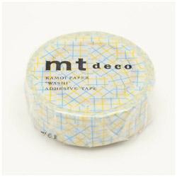 mt マスキングテープ mt 1P チェックコラージュ・イエロー MT01D348