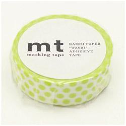 mt マスキングテープ mt 1P ドット・ライム MT01D362