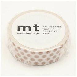 mt マスキングテープ mt 1P ドット・ミルクティー MT01D364