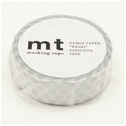 mt マスキングテープ mt 1P ドット・銀 MT01D366