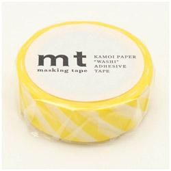 mt マスキングテープ mt 1P ストライプ・レモン MT01D369