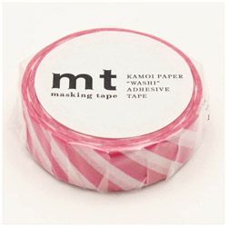 mt マスキングテープ mt 1P ストライプ・マゼンダ MT01D372