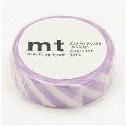 mt マスキングテープ mt 1P ストライプ・ライラック MT01D376