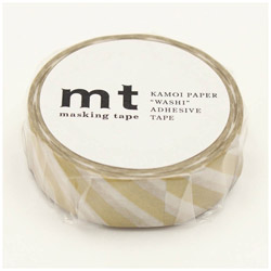 mt マスキングテープ mt 1P ストライプ・金 MT01D377