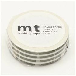 mt マスキングテープ mt 1P ボーダー・オリーブ MT01D389
