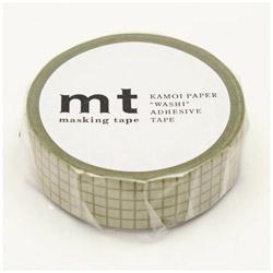 mt マスキングテープ mt 1P 方眼・苔 MT01D404