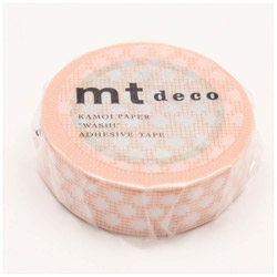 mtマスキングテープ 1P方眼ドット(オレンジ) MT01D407