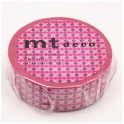 mtマスキングテープ 1Pドットストライプ(ピンク) MT01D408