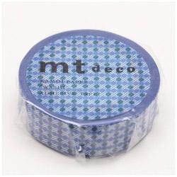 mtマスキングテープ 1Pドットストライプ(ブルー) MT01D409