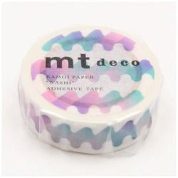 mtマスキングテープ 1Pゆらゆら(青) MT01D411