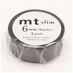mtマスキングテープ slim L (マットグレー) MTSLIM24