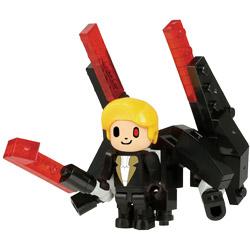 ナノブロックプラス ブロックス ライダース PBR-002 ブラックの赤い剣