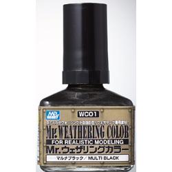 WC01 Mr.ウェザリングカラーマルチブラック 40ml