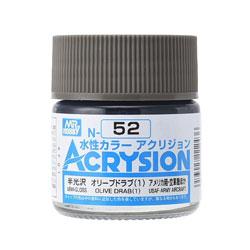 新水性カラー アクリジョン オリーブドラブ(1)