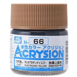 新水性カラー アクリジョン RLM79サンドイエロー