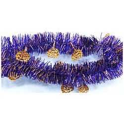 パンプキン付 ガーランド 紫(2m)